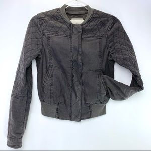 Hei Hei Anthropologie quilted bomber jacket